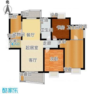 信通浦皓园144.52㎡3号楼(3-14层)户型3室2厅1卫1厨