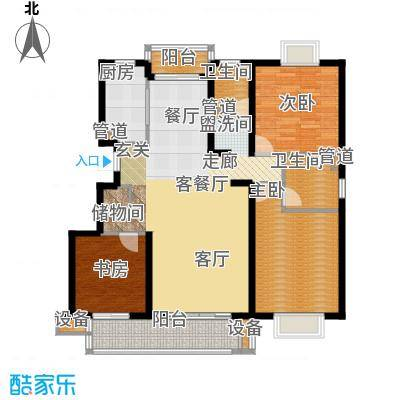 书香银苑6.00㎡C户型3室2厅2卫1厨
