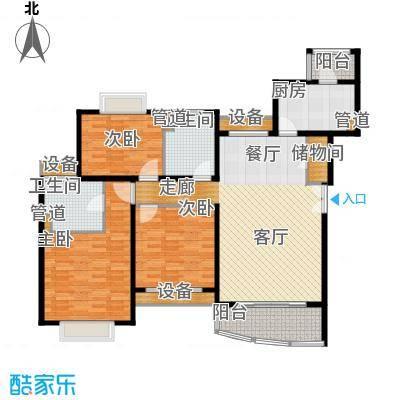新梅共和城125.40㎡新梅共和城125.40㎡3室2厅2卫1厨户型3室2厅2卫1厨