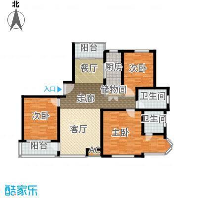 新时代富嘉花园141.43㎡G型户型3室2厅2卫1厨