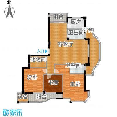丁香花园154.17㎡5号楼1层东边套户型3室1厅2卫1厨