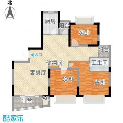 景明花园中环明珠138.85㎡上海中环明珠(景明花园)户型3室2厅1卫1厨