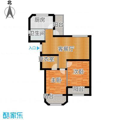 钱塘梧桐燕庐88.00㎡公寓-B户型2室1厅1卫1厨