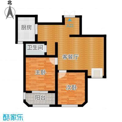 钱塘梧桐燕庐88.00㎡公寓-c户型2室1厅1卫1厨