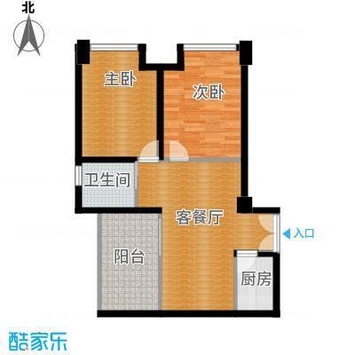 禧福汇83.50㎡C户型2室1厅1卫1厨