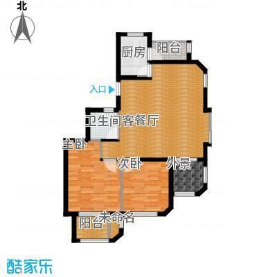钱塘梧桐燕庐86.00㎡公寓-A户型2室1厅1卫1厨