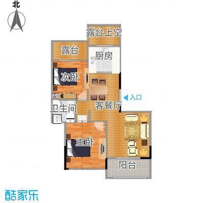 西溪山庄89.00㎡10#、11#楼户型2室1厅1卫1厨