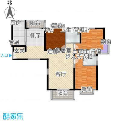 东鼎名门146.04㎡A户型3室2厅2卫1厨