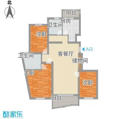 金龙东苑131.07㎡金龙东苑131.07㎡3室2厅2卫1厨户型3室2厅2卫1厨