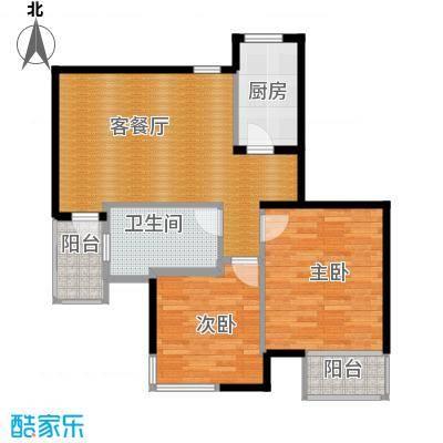 蔚蓝公寓89.00㎡绿城户型2室1厅1卫1厨