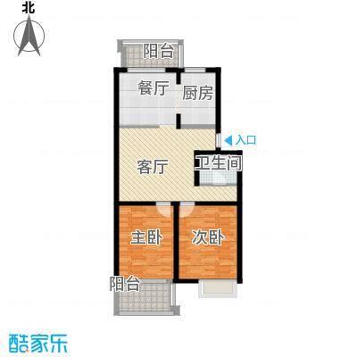 滨江庆和苑92.00㎡户型2室1厅1卫