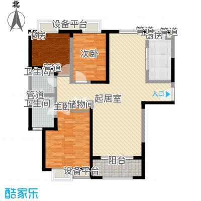 卓越世纪中心公寓131.00㎡C2户型3室2厅2卫1厨