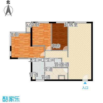 日月光中心伯爵居144.23㎡144.23和143.80平米3房2厅1卫户型3室2厅1卫