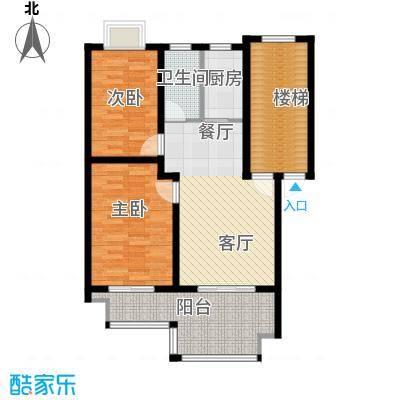 东林锦峰苑73.00㎡户型2室1厅1卫1厨