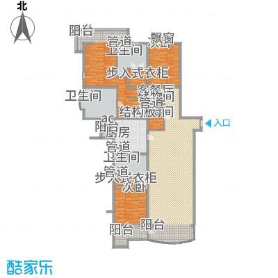 北京四季世家318.00㎡四居户型4室2厅2卫1厨