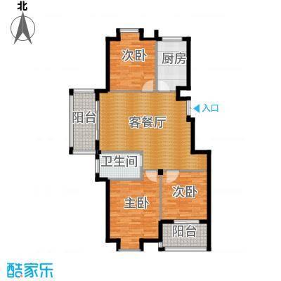 江南名苑111.07㎡B1户型3室1厅1卫1厨