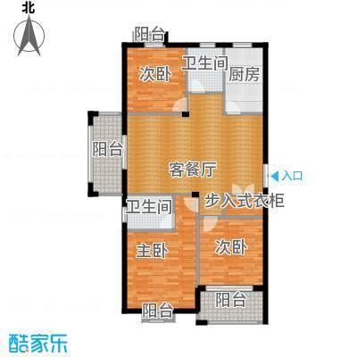 江南名苑119.26㎡D3户型3室1厅2卫1厨