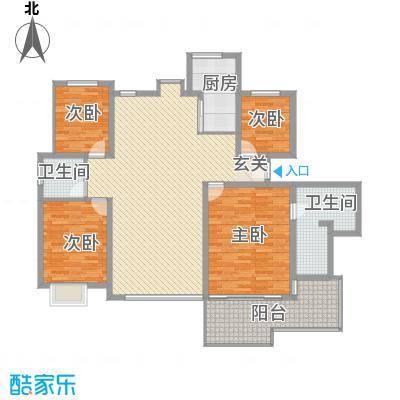 中宇花苑176.56㎡M户型3号楼25层户型4室2厅2卫1厨