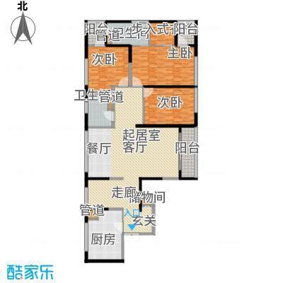 皇都花园2期193.35㎡2号楼pc户型4室2厅3卫