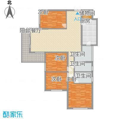 东方剑桥183.44㎡上海户型4室2厅3卫1厨