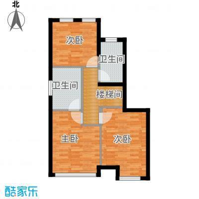 名城湖左岸126.00㎡A1二层装修示意图户型3室2卫