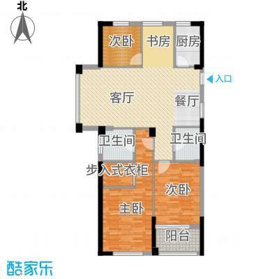 绿都四季华庭89.00㎡8、9号楼A户型3室1厅2卫1厨