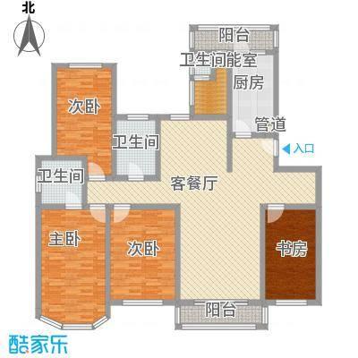 新江湾城191.00㎡F户型5室2厅2卫1厨
