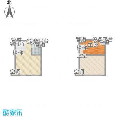 21#综合楼B1开间户型图
