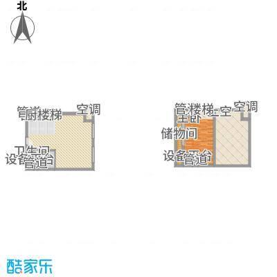 21#综合楼A1开间户型图