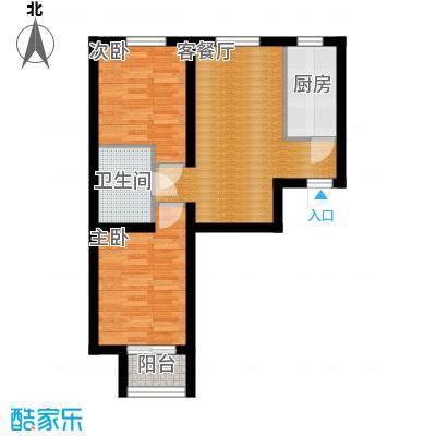 金隅景和园77.00㎡E4户型2室1厅1卫1厨