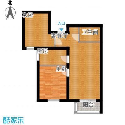 金隅景和园85.00㎡E3户型2室1厅1卫1厨