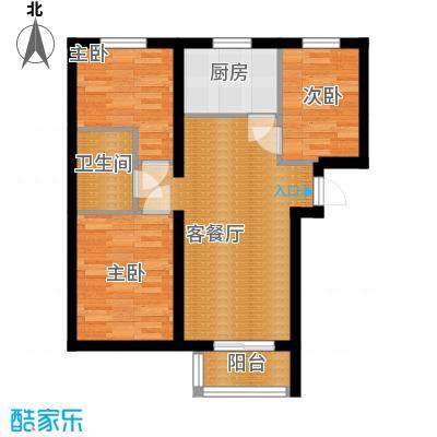 金隅景和园89.00㎡F4户型3室1厅1卫1厨