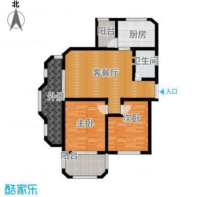 钱塘梧桐燕庐90.00㎡公寓-D户型2室1厅1卫1厨