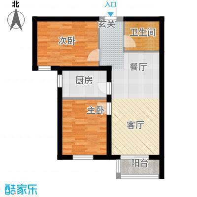 金隅景和园87.00㎡F3户型2室1厅1卫1厨