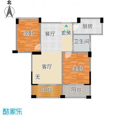 康恒悦麒美寓89.00㎡B2奇数层户型2室1卫1厨