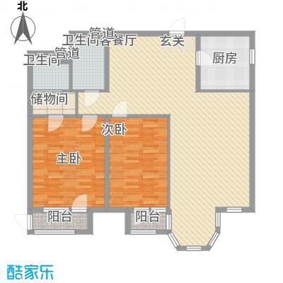合生时代帝景150.00㎡3号楼B户型2室2厅2卫1厨