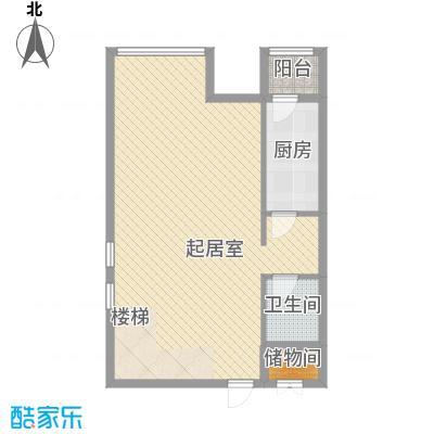 合生时代帝景75.00㎡A户型首层户型2室2厅2卫1厨