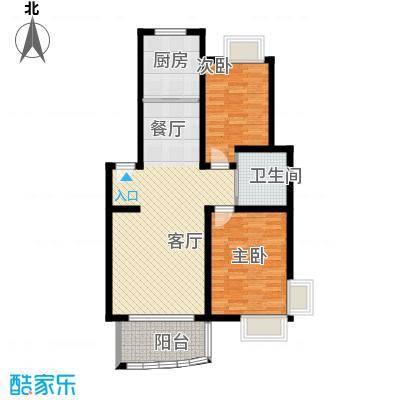 广利佳苑89.38㎡户型2室1厅1卫1厨