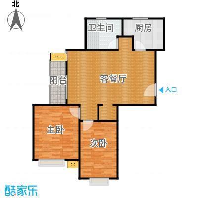 发展今日嘉园95.14㎡B#楼B1户型2室1厅1卫1厨