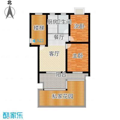 东林锦峰苑80.00㎡户型2室1厅1卫1厨