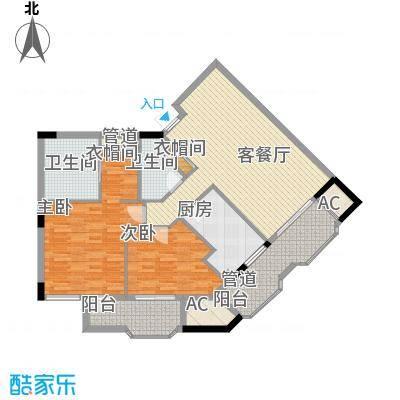 丁香公馆A1户型2室2厅2卫1厨
