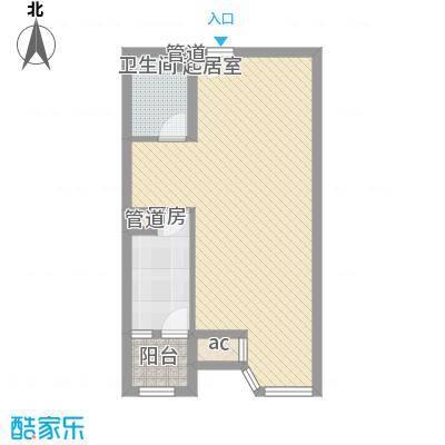 合生时代帝景70.00㎡1、2号楼A户型10室