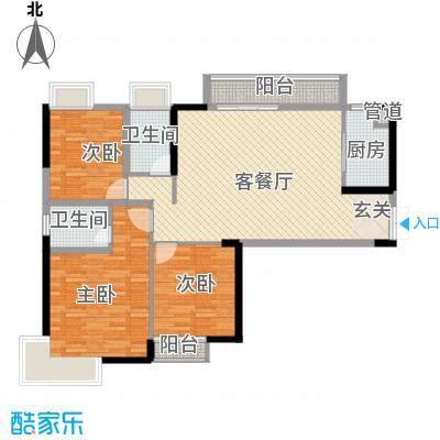 红谷世纪花园130.00㎡红谷世纪花园3室户型3室
