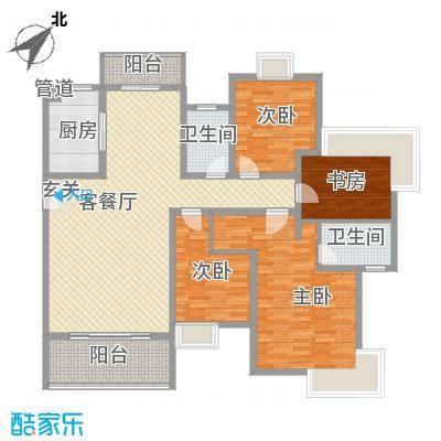 红谷世纪花园178.00㎡红谷世纪花园5室户型5室