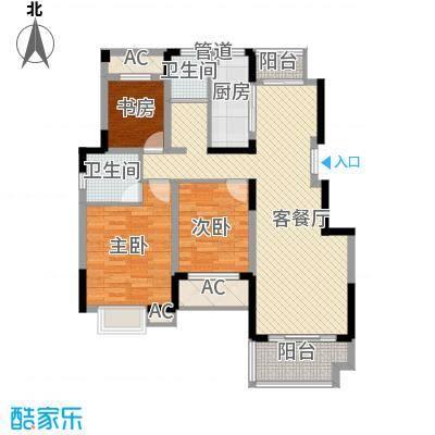 方大上上城121.32㎡二期小高层G户型3室2厅2卫1厨