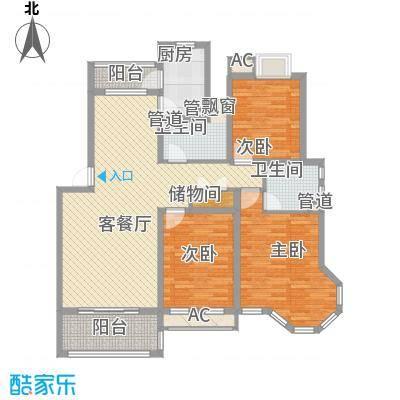 翰园小区147.00㎡翰园小区3室户型3室