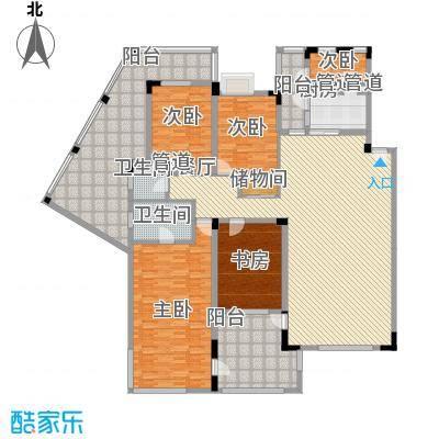 紫金园203.00㎡H户型4室2厅3卫1厨