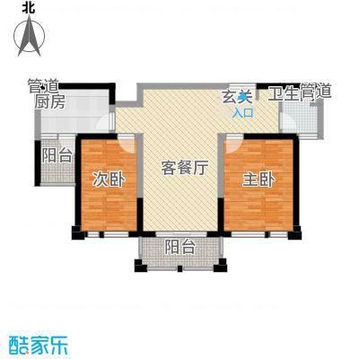 衡山城二期高层 约102-107平米户型2室2厅