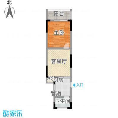 东方塞纳61.14㎡东方塞纳户型图C户型1室1厅1卫1厨户型1室1厅1卫1厨