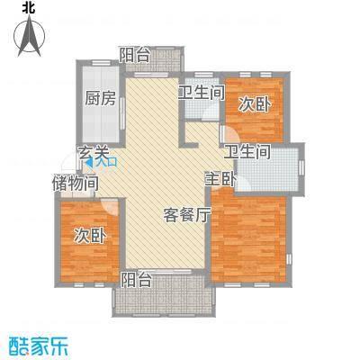 衡山城131.00㎡D-2型 已售完户型3室2厅2卫1厨